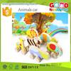 newest design car toys OEM funny animal car toys wooden car toys for children EZ5137
