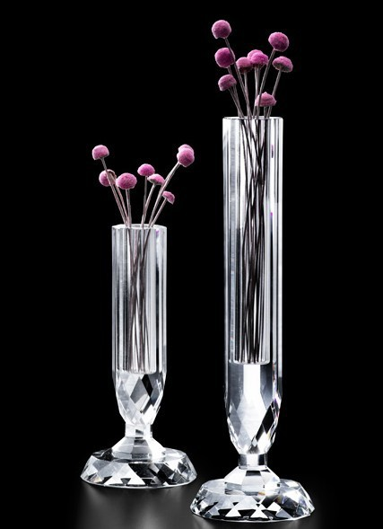 Wholesales cheap k crystal glass vase for wedding