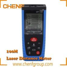 Newest Design Portable Digital LCD Yellow / Blue 100m Laser Distance Meter Rangefinder Range finder Tape measure