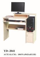 antique white wood computer desk