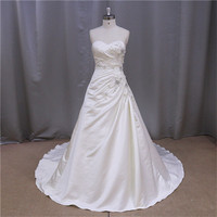 real pictures of mermaid lace custom design satin bridal wedding dress