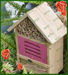 new style pine and bamboo wooden insect house