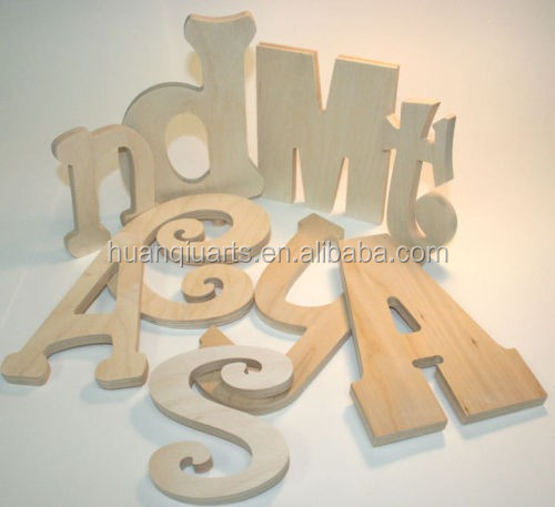 Wall wood letters personalized decoration number crafts for Wooden letters for crafts