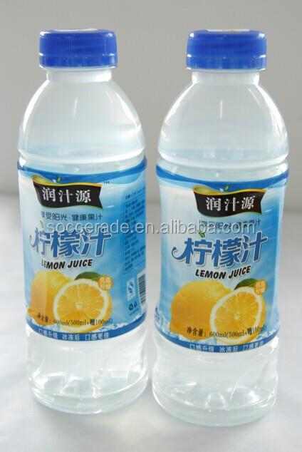 Lemon juice drink in bottle