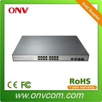Managed 16 Port POE Switch for IP Camera with 2 Gigabit TP/SFP Combo Ports (ONV factory )
