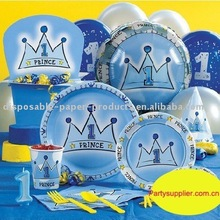 Prince 1st Birthday Deluxe Pack