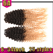 productos alibaba nuevo kinky afro rizado cabello virgen tejer ombre de extensión
