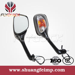 FLYQUICK black or carbon motorcycle motorbike racing bike sport bike 2002 gsxr 1000 mirrors with turn signal light