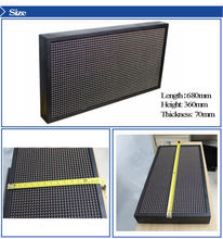 P10 32*64 dots DIP small size full color led display for video advertising