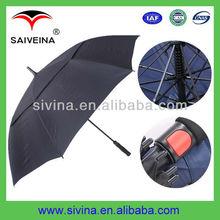 golf club umbrella 30 inches 8k double layer auto open windproof custom print umbrella
