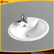 Chinese bathroom sink ceramic counter top basin