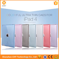 factory price 0.5mm tpu silicone transparent soft mobile phone case cover for ipad 2 3 4