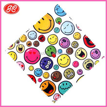Cute Expression Printed Microfiber Fabric For Eyeglasses/Mobile