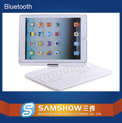 Rotating stand case cover+bluetooth keyboard for iPad Air 2/iPad 6