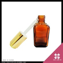 Attractive amber glass medical glass bottle with dropper
