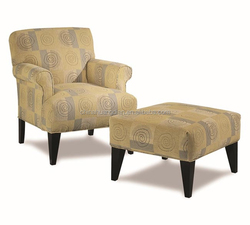 wooden used living room chair furniture with ottoman HDL1669