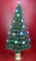 5 FT Green Color Changing Fiber Optic Artificial Christmas Tree