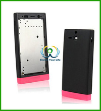Full Housing Cover Replacement Back Cover Complete Part for Sony U ST25i ST25 (Pink)