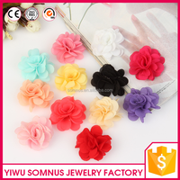 5CM Stock decorative silk flowers for dress clothes colorful satin ribbon flowers