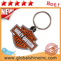 high quality oem 3d logo soft pvc keychain for promotion gift