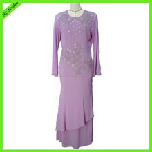 High quality chiffon women latest long evening dress