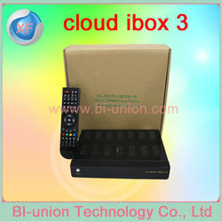 2014 digital cloud ibox 3 satellite tv receiver ,support 3D ,3G,USB,WIFI,HBBTV,Youtube,IPTV,Emu firmware for christmas