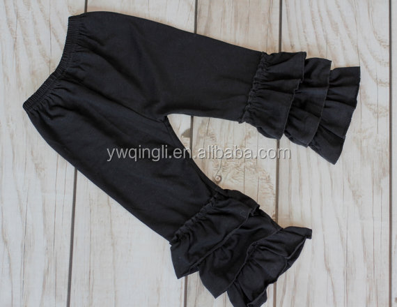 DAILY DEAL!! BLACK Ruffle pants capris - Boutique ruffle leggings Baby Toddler Little Girl Ruffle Bottoms.jpg
