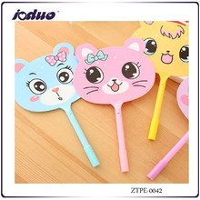 2015 Cute Summer Hand Fan Cat Ballpoint Pen As The Student's School Gifts