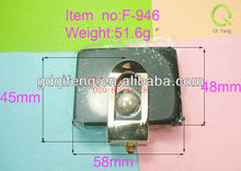 2013 accessories for stock market famous brand handbags fashion metal and plastic lock F-946