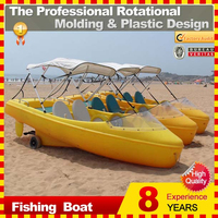 1-3 person cheap plastic fishing boat for sale
