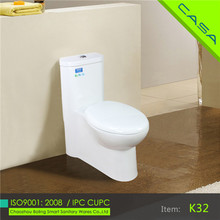 siphonic one piece colored toilet bowl