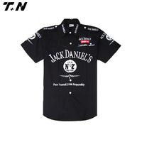 Custom racing team pit crew shirts