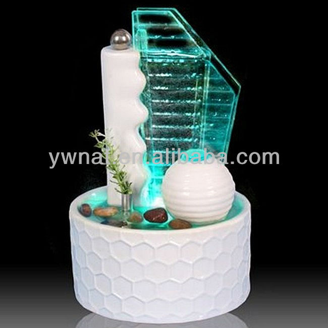 2015 moda venta al por mayor blanco hec decorativo de - Fuentes decorativas para interiores ...