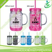 Hot Sale! 24 oz trade assurance mason jar tumbler with handle