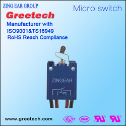 Momentary 0.5A/5A 250V types of electrical t85 0.5A 250V wire leads switch