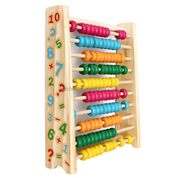 The Best Price Top Quality Baby Kids Wooden Abacus Toys Computing Calculator Math Learning Teaching Tool Good For Fun