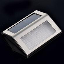 solar inoxidable escaleras luz solar paso lámpara