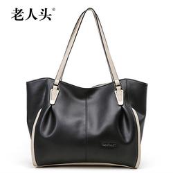 Laorentou Brand Tote Bag Famous High Quality Cowhide Leather Bags Women Shoulder Handbag Guangzhou Bag Factory