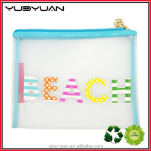 Fashion Transparent Travel Beach Clutch Promotional Waterproof Makeup Pouch 2015 Clear PVC Cosmetic Bag