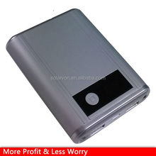 high quality rubber oil finish phone charger 2 USB outport slim travel power bank mobile battery pac