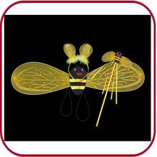 Ingrosso ali delle api costume da fata ali delle api con bacchetta magica pgac- 0770