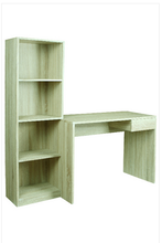 HOT SELLING Modern Design Computer Table Furniture MDF with book shelf