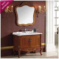 ROCH 116 Best Selling Antique Oak Wood Cabinet Bathroom Classical Vanity