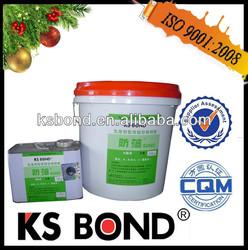 Two component polyurethane flooring adhesive