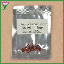 Good polishing 1.5mm small round shape precious genuine natural red garnet stones for sale
