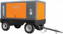 Skid mounted/Portable Electric Motor driven Screw Air Compressors (Low, Medium Pressure Series)100Psi-350Psi/100cfm-1500cfm