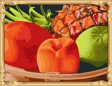 GX7266 still life fruit photo diy painting by numbers for home decor