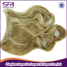 Best quality Kanekalon Heat resistant synthetic hair weave flip in hair extension