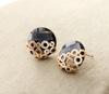 Newly Coming white rhinestone round pendant alloy earring