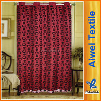 Polyester Shade Fabric Flock Bebroom Cheap Window Curtain